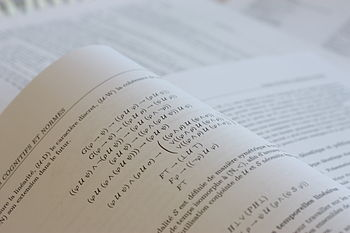 English: Mathematics formulas () in a PhD thes...