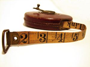 An old measuring tape
