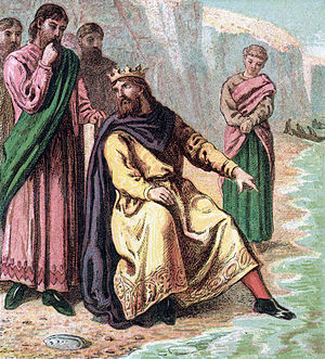Canute and his courtiers